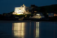 burgh island hotel night